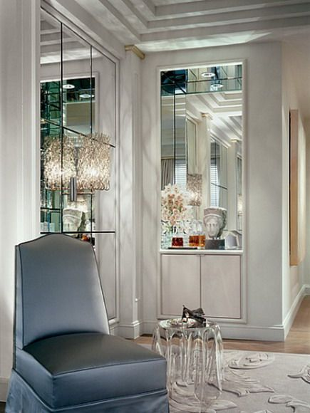 Furniture and Art Deco Interior in Home Truly Glamorous Style by Geoffrey Bradfield