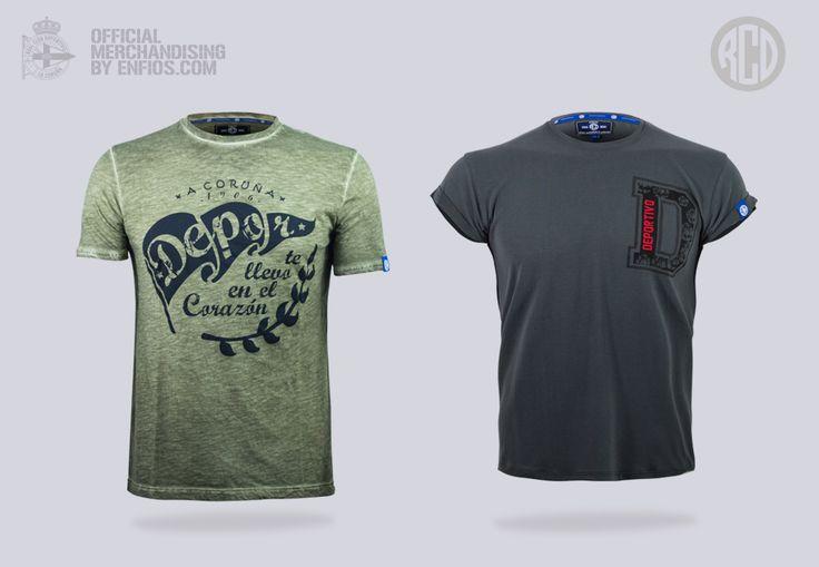 Nuevas camisetas pertencientes a la fashion Collection RCD
