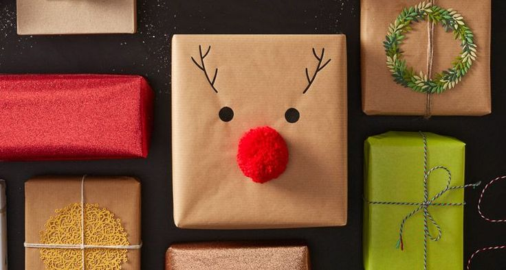 Christmas wouldn't be Christmas without a certain reindeer and his big red nose! Create this fun and festive reindeer nose gift wrap using just a few simple materials... This is such a great way to decorate your presents in no time at all.