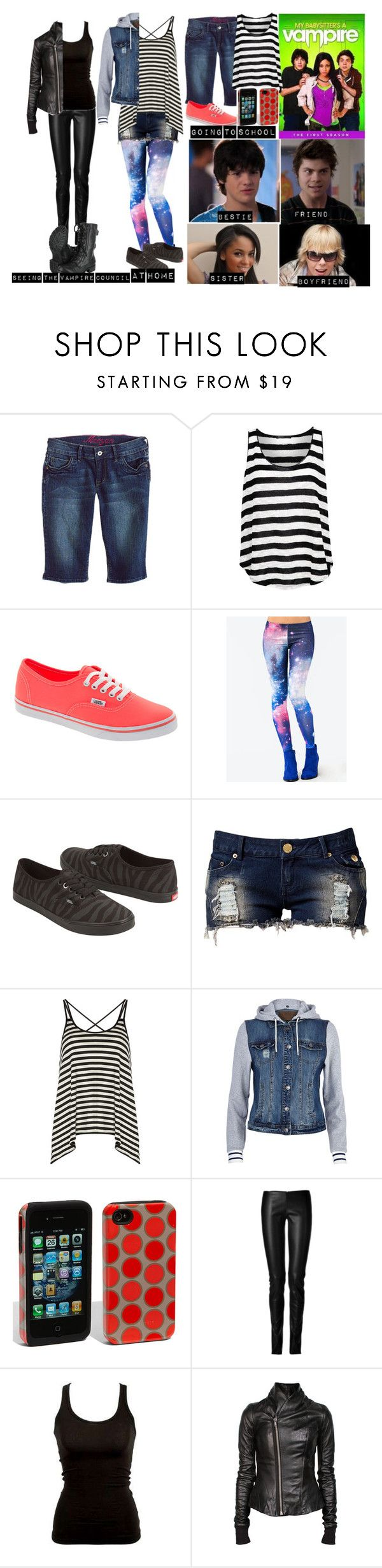 """""""Me in My babysitter's a vampire"""" by moon-and-back-babe123 ❤ liked on Polyvore featuring Morgan, MANGO, Vans, Club L, Dorothy Perkins, River Island, Case-Mate, Jitrois and Rick Owens"""