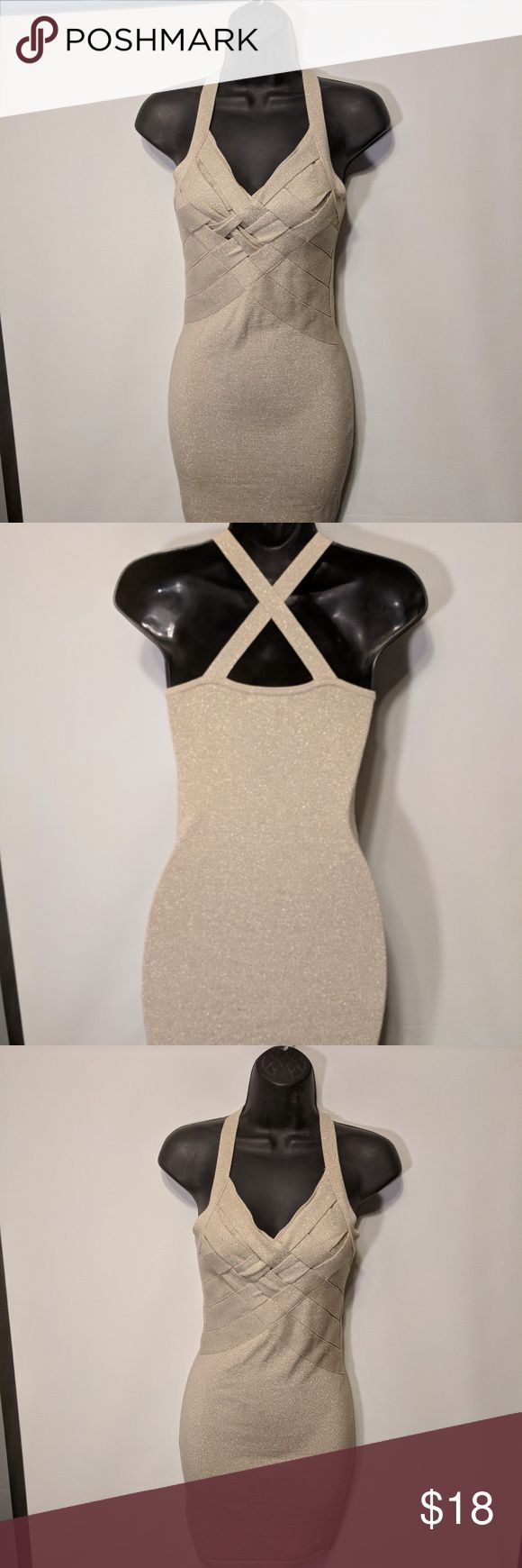 Charlotte Russe champagne cocktail dress. Xs Charlotte Russe champagne cocktail dress. Xs Charlotte Russe Dresses Midi