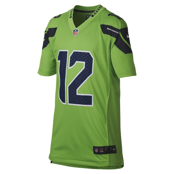 Nike NFL Color Rush (NFL Seahawks) Big Kids' Jersey Size Medium (Green)