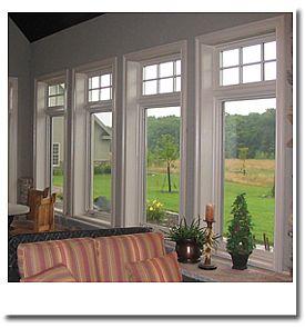 casement windows in rear addition
