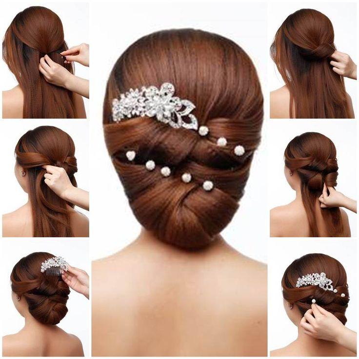 DIY Elegant Bridal Hairstyle  https://www.facebook.com/icreativeideas