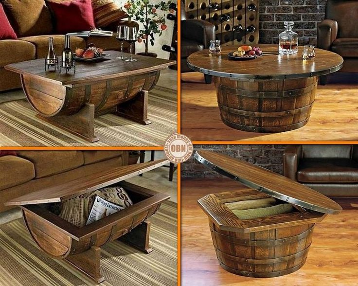 Barril bodega pinterest mesas for Barriles de vino