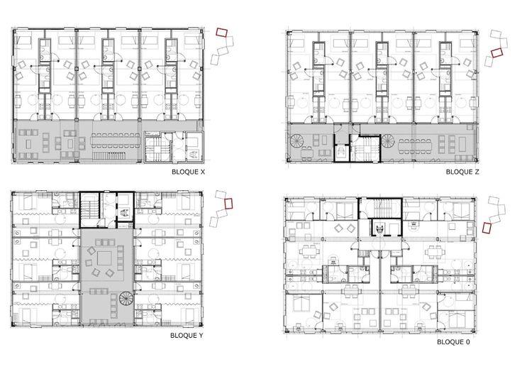 Guallart Architects university housing . gandía  #WG #Plan #Geschosswohnungsbau