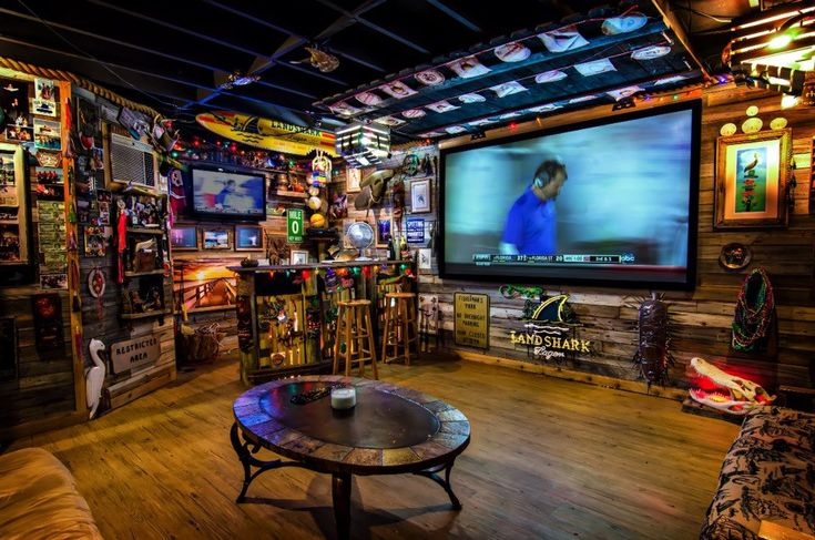 A Man-Cave should be filled to the brim with all the things a man loves - and a big-ass tv...