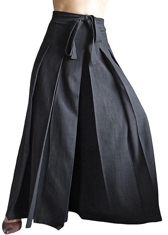 ChomThong Hand Woven Cotton Hakama Pants PFS02601 by SawanAsia, ¥10990