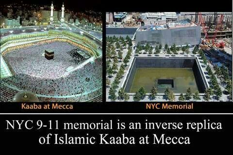 NYC 9-11 memorial is an inverse replica of Islamic Kaaba ...