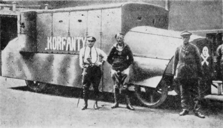 Polish armored car Korfanty in 1920 made by Polish fighters in Woźniak foundry.