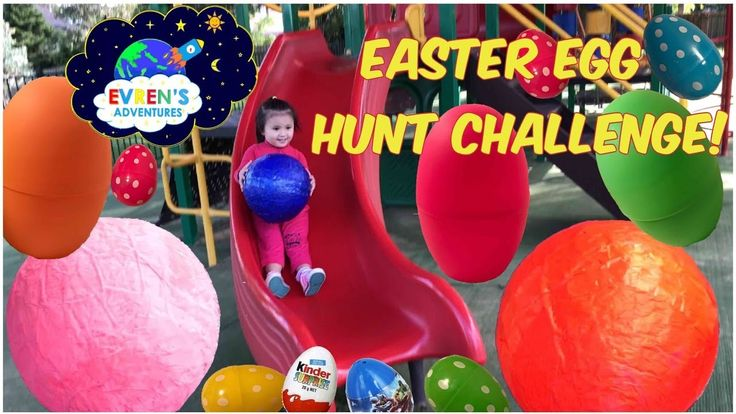 GIANT SUPER SURPRISE EASTER EGGS HUNT CHALLENGE ! Easter Eggs Surprise Disney Micky Mouse Finding Dory Marvel Spider-Man Superhero TMNT Surprise Toys for Kids.  Evren and Daddy had a mega fun Game for kids Big Easter Eggs Surprise Toys Hunt Challenge at the Outdoor Children playground.