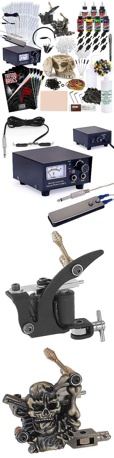 Tattoo Machines and Parts: Complete Tattoo Machine Kit - 2 Gun Skull Set -> BUY IT NOW ONLY: $70.99 on eBay!