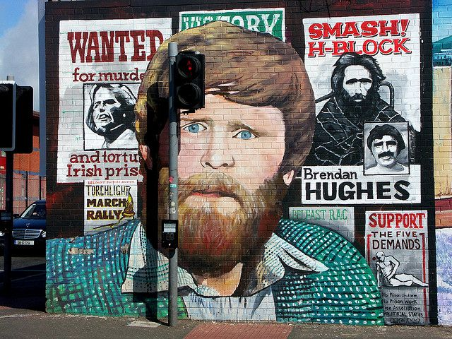 Irish Hunger Strike mural - This is part of the International Peace Murals in Falls Road, Belfast, Northern Ireland by yakshini, via Flickr - It commemorates the hunger strikes of Irish Republican prisoners in prison in Northern Ireland