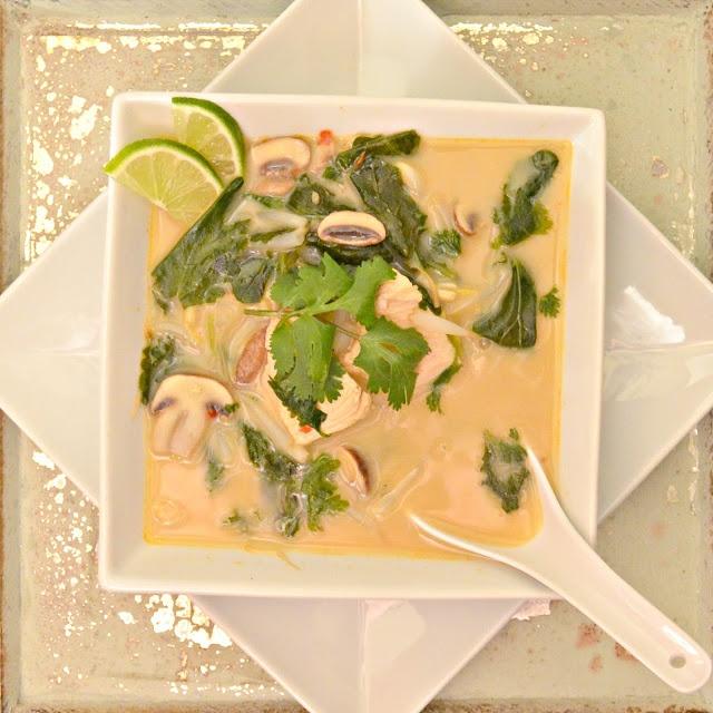 Healthy Thai Chicken Coconut Soup