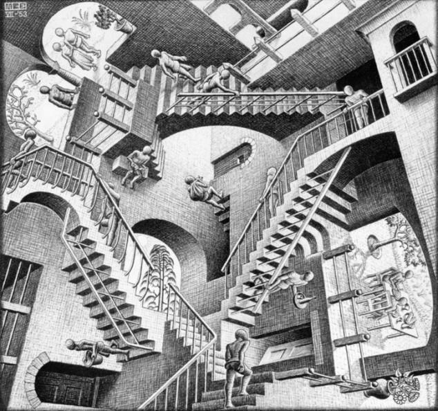 M C Escher, Relativity