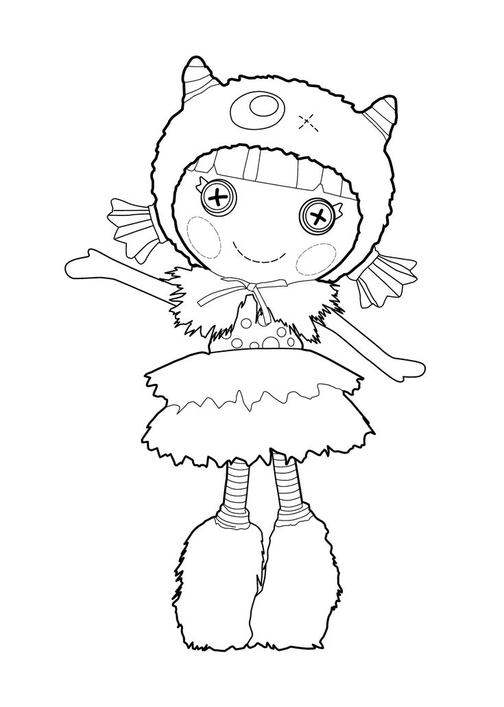 lalaloopsy doll coloring page for kids printable free furry grrrs a lot