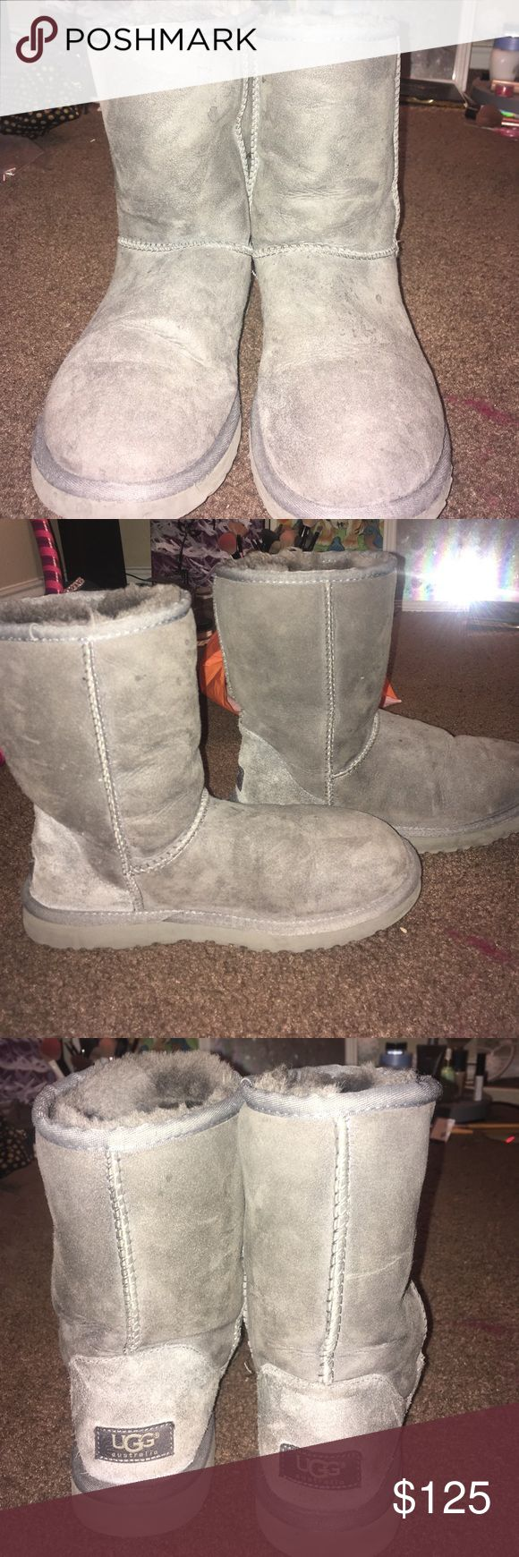 Grey uggs These babies are great condition, only worn a few times. (Will send mor pictures upon request) Shoes Winter & Rain Boots