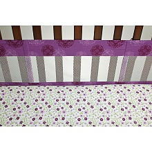 NoJo Pretty In Purple Mesh Crib Bumper