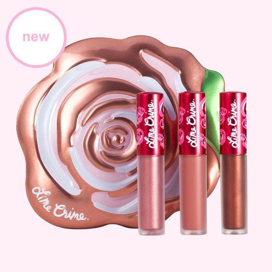 Champagne Velve-Tin | Golden Pink Lipstick Gift Set - Lime Crime