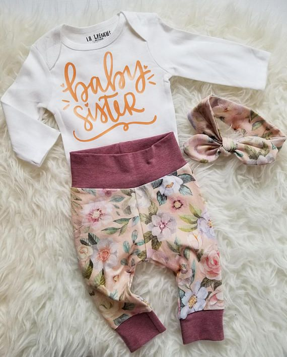 Baby girl coming home outfit  Newborn girl clothes  Take