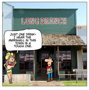 Today you can still get a beer at the Long Branch Saloon. In 1947 Front Street was reconstructed and there is a museum and many other interesting exhibits. There are more than 20,000 artifacts displayed.