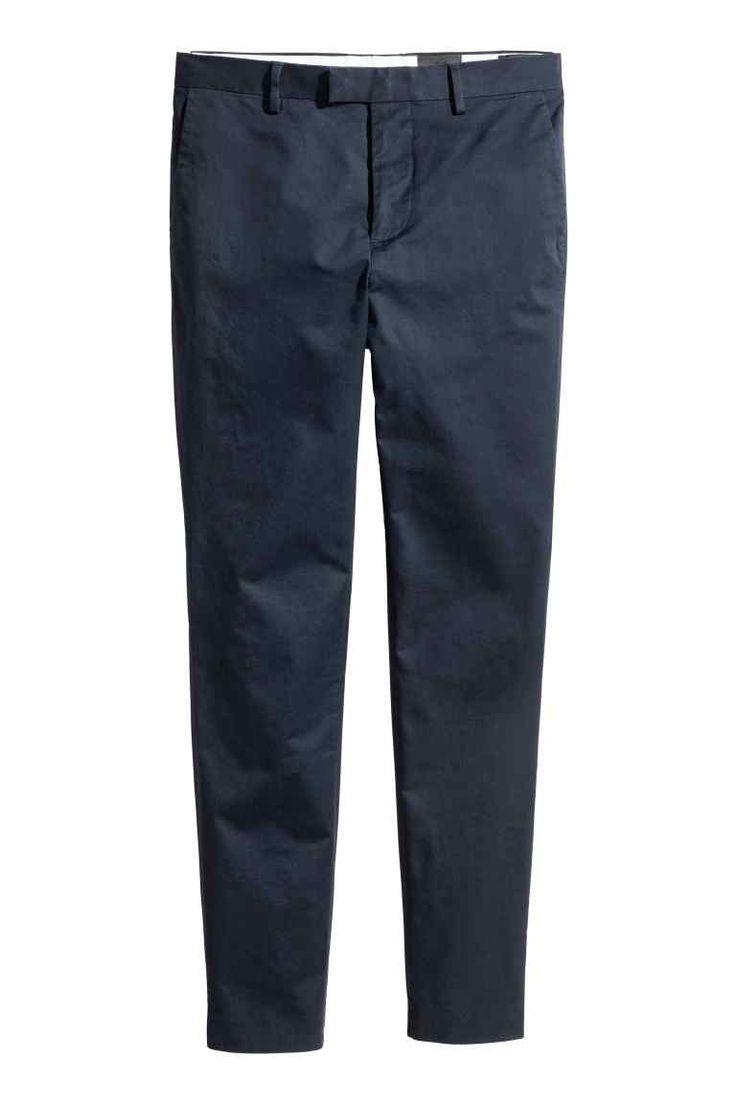 Kalhoty chino z bavlny premium | H&M