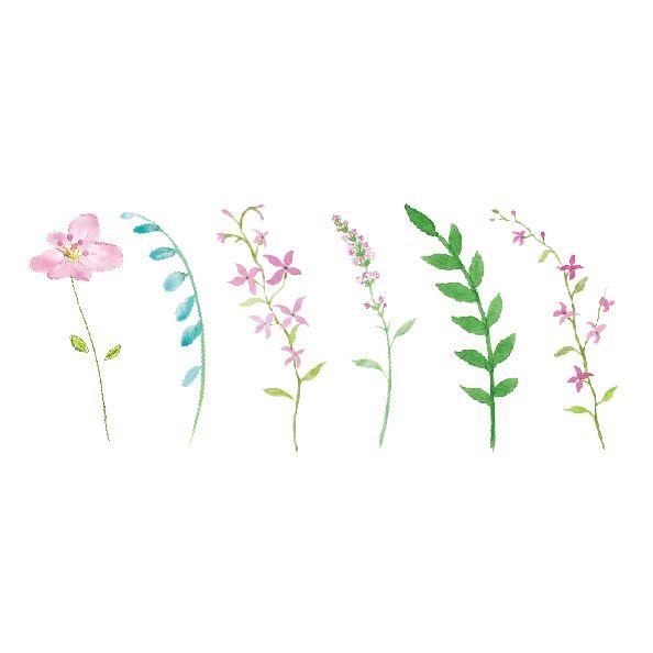 Waterproof Temporary Fake Tattoo Stickers Pink Mini Flowers Green Leaf Design Body Art Make Up Tools #Affiliate