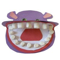 Hippo teeth - great for dental health, zoo, animal teeth, or teeth theme