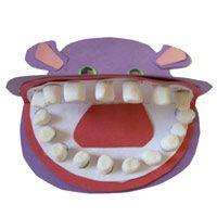 Hippo teeth - great for dental health, zoo, animal teeth, or teeth theme