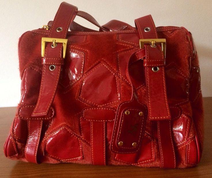 Borsa+Da+Donna+Colore+Rosso+Vivace