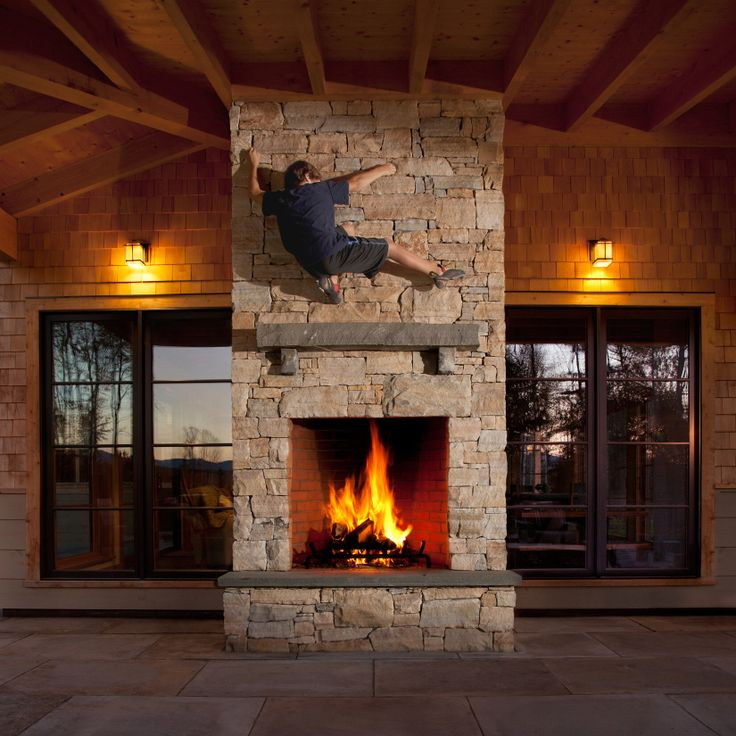 Indoor outdoor fireplace screened in porch pinterest for Indoor and outdoor fireplace design