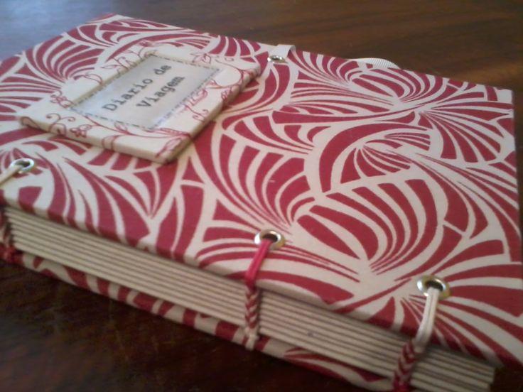 Caderno com costura copta etíope ( feito com 4 agulhas), sugestão para uso de mensagens, lembranças, poesias, receitas, etc.
