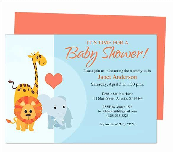 Printable Baby Shower Invitation Template New 68 Microsoft Invitation Template F Free Baby Shower Invitations Baby Shower Invitations Diy Baby Shower Templates
