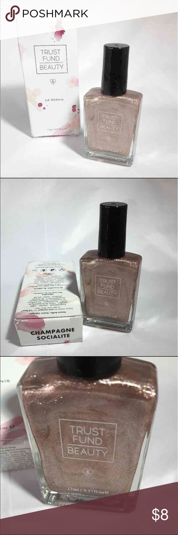 Trust Fund Beauty Champagne Socialite Nail Polish New in box Trust Fund Beauty Nail Polish Champagne Socialite 0.57 fl.oz / 17 ml Trust Fund Beauty Makeup