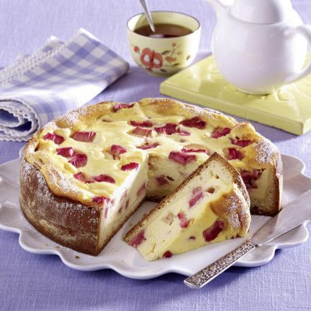 Rhabarber-Käsekuchen Rezept