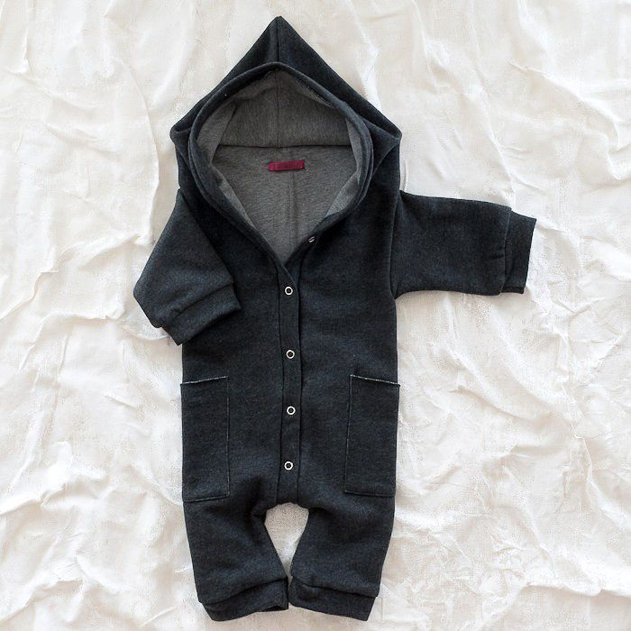 Hooded one piece, cute for a baby during winter, awwwh- want!*