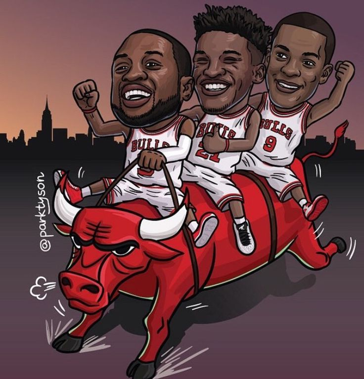 After the Chicago Bulls reloaded their roster with the likes of Rajon Rondo and Dwayne Wade, while also keeping the young and talented Jimmy Butler who is in the middle of this piece. The Bulls have a monumental past legacy with the Jordan Chronicles but this shows the future is bright.