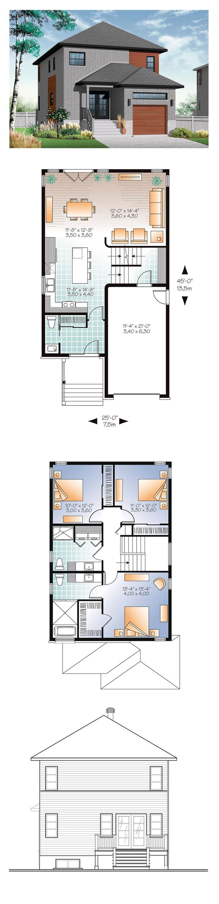 Contemporary Modern House Plan 76327 25 best
