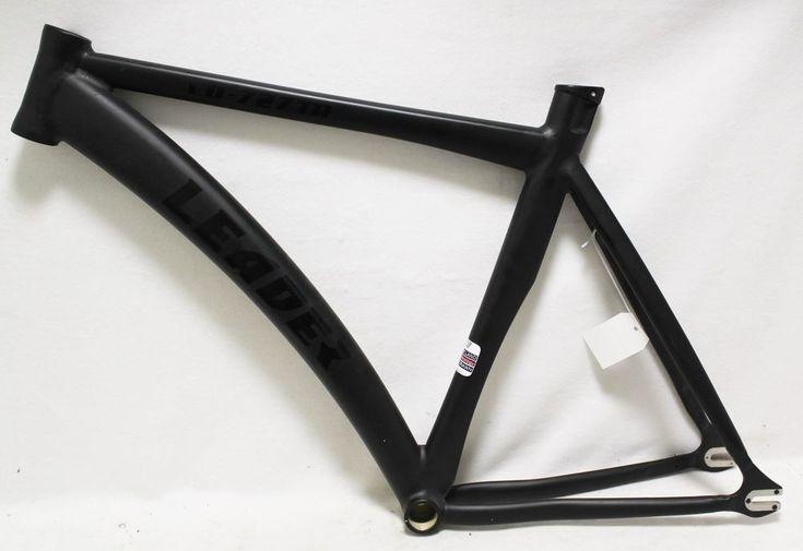 """Leader LD-727TR Bike Bicycle 20"""" 20 Inch Aluminum Frame Flat Black Road Track #Leader"""