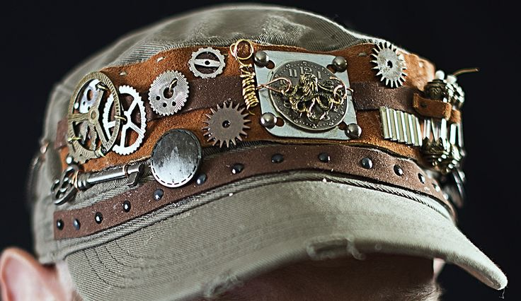 I made this for a friend who wanted a Steampunk mechanic's hat.  Willing to make more.....Steampunk fashion is the best!
