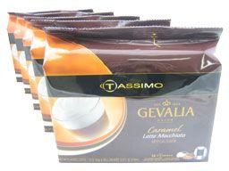 Tassimo T-Discs: Gevalia Caramel Latte Macchiato T-Disc Pods (Case of 5 packages; 80 T-Discs Total)