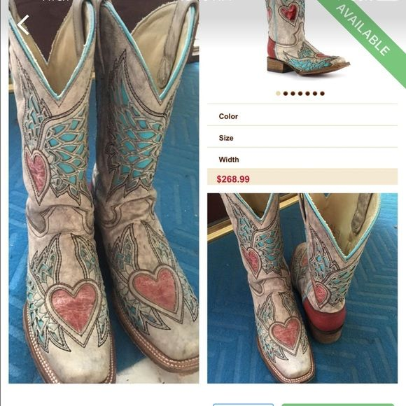 """Corral Vintage Boots EUC only worn once. Too tight for me. Corral vintage """"A2788"""" size 7.5 Corral Shoes Combat & Moto Boots"""