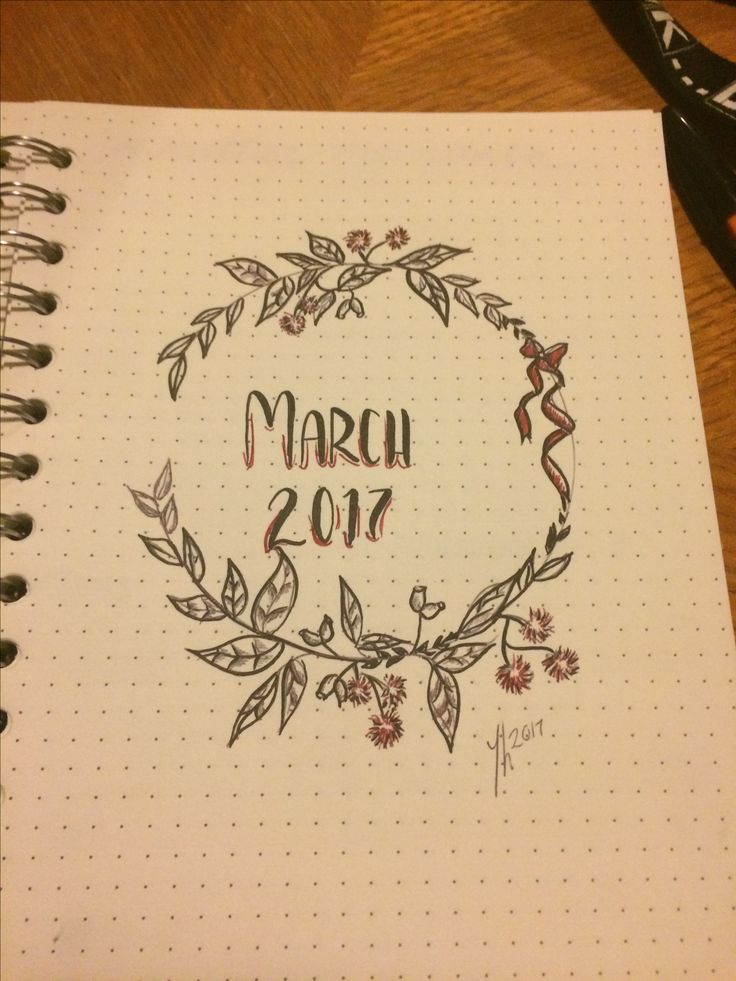 March, header, title page , floral