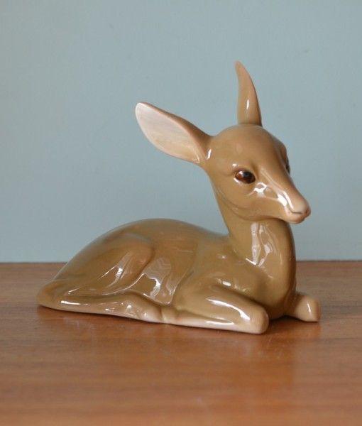 Vintage ceramic deer figure figurine  W.R.Midwinter Burslem