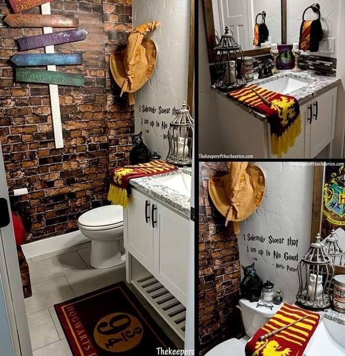 Harry Potter Bathroom Decor.A Harry Potter Bathroom In 2019 Harry Potter Bathroom
