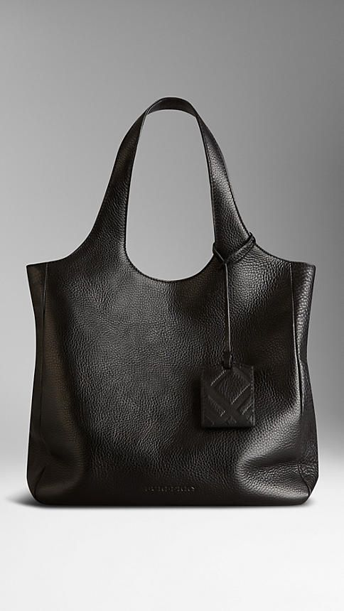 Grainy Leather Shopper | Burberry