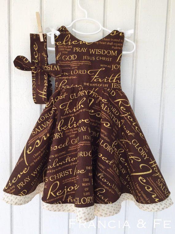 Christian Easter Dress for Toddler. Children's fashion. Cute little girls dress. Toddler clothes.