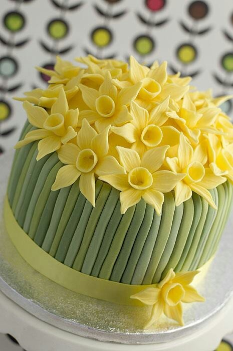 Mother's Day cake...use two colours for daffs