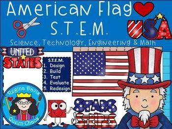 $ American Flag...U.S.A. Symbols S.T.E.M. Activity.  Enjoy! Regina Davis aka Queen Chaos at Fairy Tales And Fiction By 2.