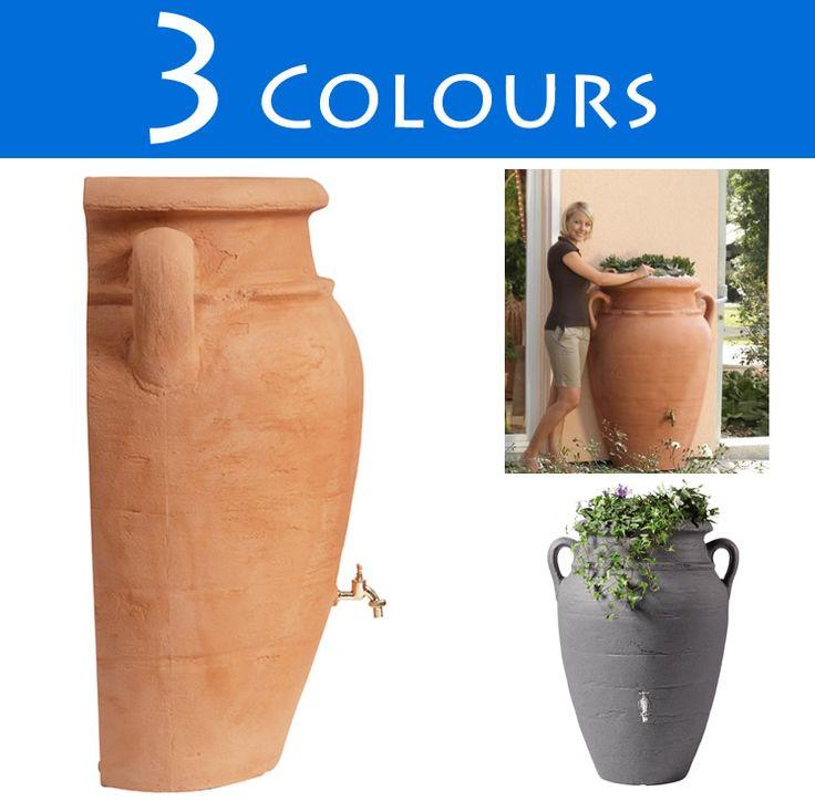 260l Antique Wall Amphora Water Butt :: Water Butts Direct